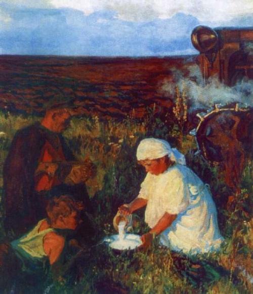 Тяжелый труд земледельцев
